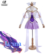 ROLECOS Brand New Arrival Game LOL Cosplay Costumes Top and Skirt Full Set Star Guardian Magical Girl Janna Cosplay Costumes