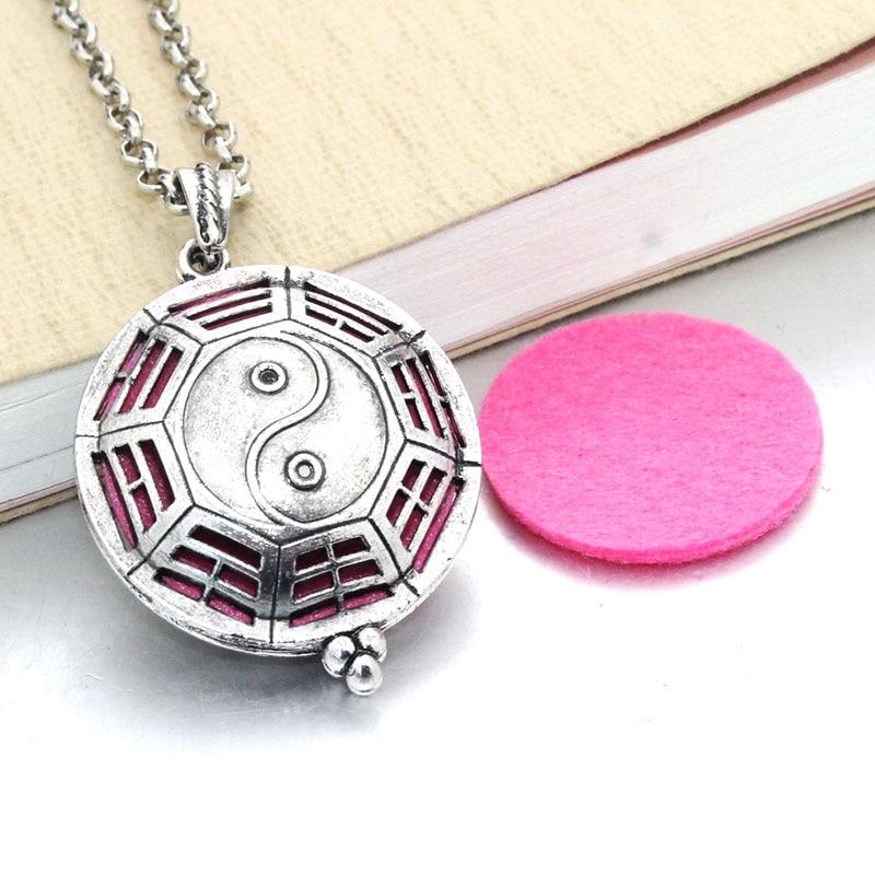 1 шт. аромадиффузор ожерелье Открытый Античный винтажный медальон кулон парфюм эфирное масло ароматерапия медальон ожерелье с подушечками - Окраска металла: 031310