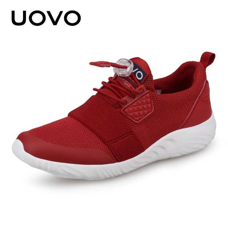 Uovo Children'S Casual Shoes Boys Mesh Slip-On Shoes Fashion Lightweight Girls Sports Breathable Kids Shoes For Girl Sneakers novelty lights 8 colors changeable e27 wireless bluetooth speaker rgb color smart led light bulb with remote control lamp light