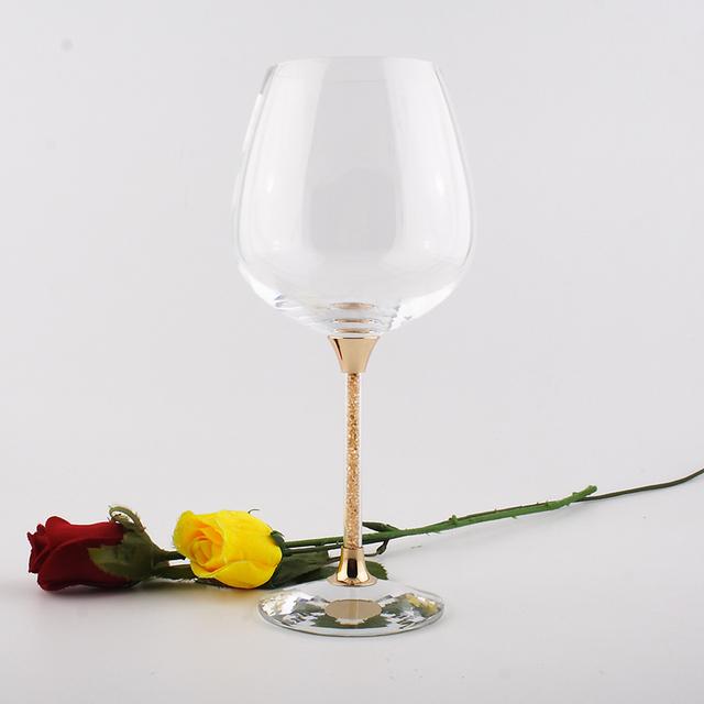 Round Crystal Wine Glass 2 pcs Set