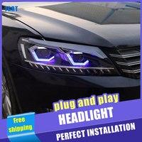 2PCS Car Style LED headlights for Volkswagen Jetta 2012 2018 for Jetta head lamp LED DRL Lens Double Beam H7 HID Xenon bi xenon