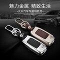 Keychain Del Coche de cuero Carve Anillos Para VW Golf 5 6 Jetta 7 MK5 MK6 MK7 CC Tiguan Passat B6 Scirocco B7 Caso Key Holder bolsa