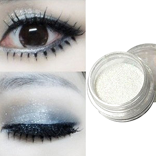 Women's Pro High-light Glitters Makeup Cosmetic White Pearl Eye Shadow Glitters Powder
