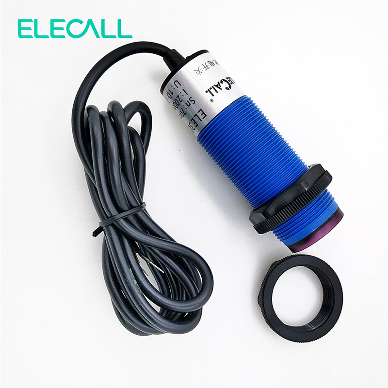 Photoelectric Sensor Diffuse Photoelectric Switch NPN Normally Open  Infrared Sensing 70cm ELE30S-A70PAD3 omron photoelectric switch sensor built in micro diffuse 2m e3t sl11