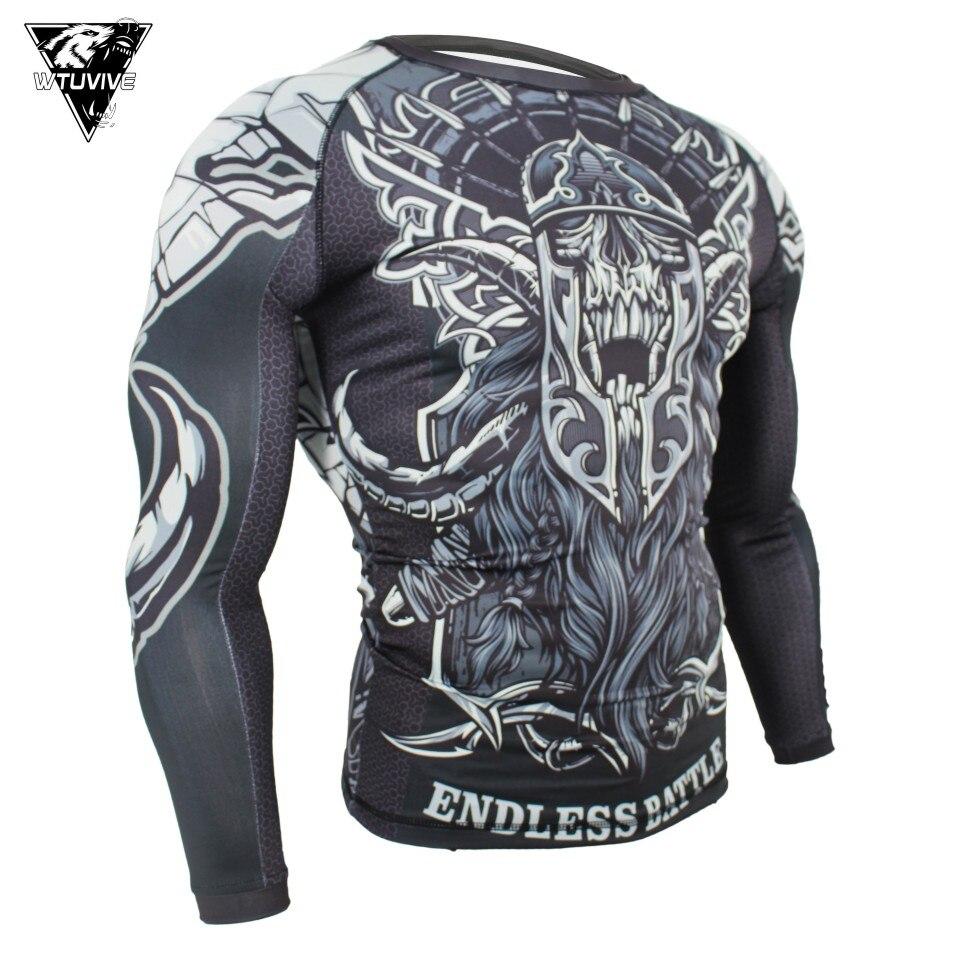 New Body Slim MMA Boxing Jersey Muay Thai Rashguard Fighting Fitness Elastic Tights Running Sweatshirts Kickboxing Fightwear