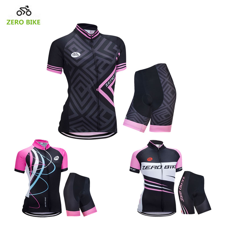 ZEROBIKE New US Size Women's Cycling Clothing Jersey Shorts Breathable 4D Gel Padded Outdoor Sports MTB Bike Ropa Ciclismo