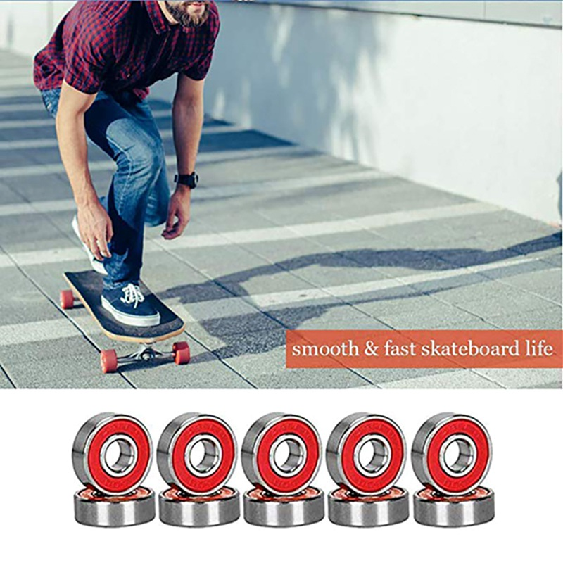 10 Pcs 608 ABEC  11 No Noise Oil Lubricated Smooth Skate Scooter Bearing Longboard Speed Inline Skate Wheel Bearing Skateboard