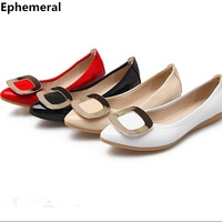 Plus Size 45 44 34 Dancing Shoes For Women Flats With Metal Soft Ballet Loafers High