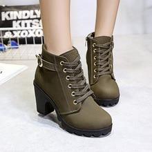 Autumn winter women new plus velvet short boots thick heels wild black matte female korean OL Martin boots 4 colors shoes