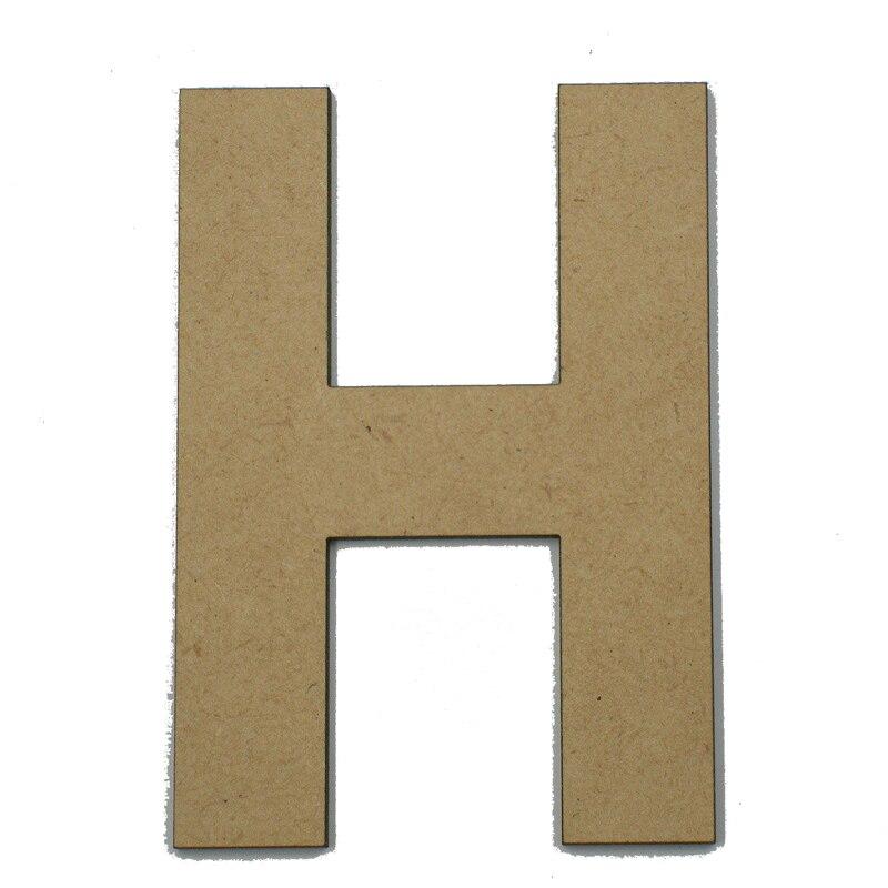 20cm Large Wooden Letter Words DIY Wood A-Z 26 Letters Alphabet Name Lem Portable Letter Decor