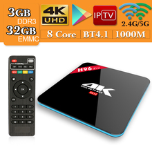 S912 H96 Pro Android 7.1 Caixa De TV Amlogic Octa Core 3g RAM 32g ROM Bluetooth 4.1 UHD 4 k Set Top Box pk X92 H96 MAX H2