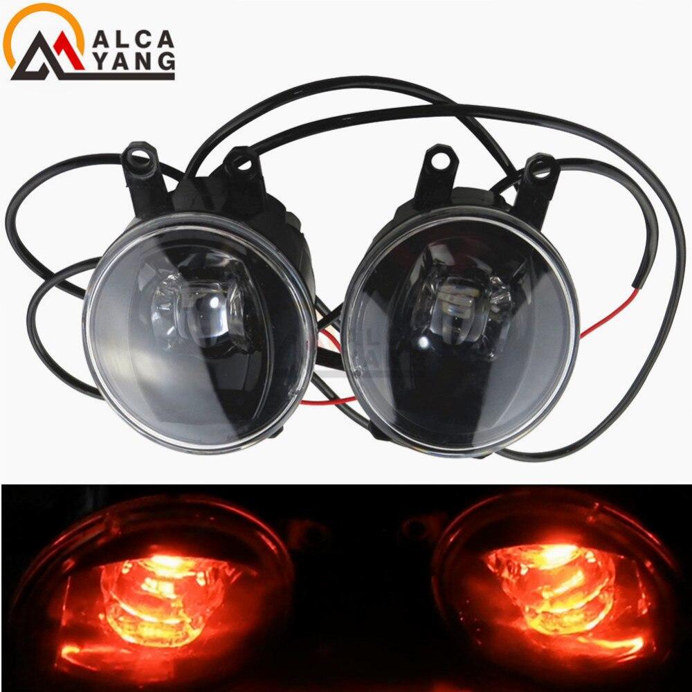 2pc With Red Devil Eye Fog Lamp Assembly high brightness Fog Light LED For For Toyota Corolla Verso MPV ZER ZZE R1 2007 2009