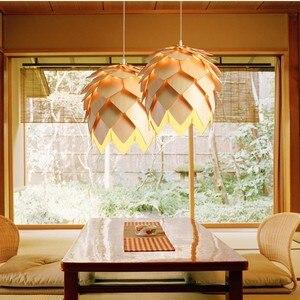 Image 3 - Nordic ไม้จี้ Pine CONE จี้ไม้ DIY อเมริกันโมเดิร์นแขวนโคมไฟห้องนั่งเล่นห้องนอนห้องนอน Cafe