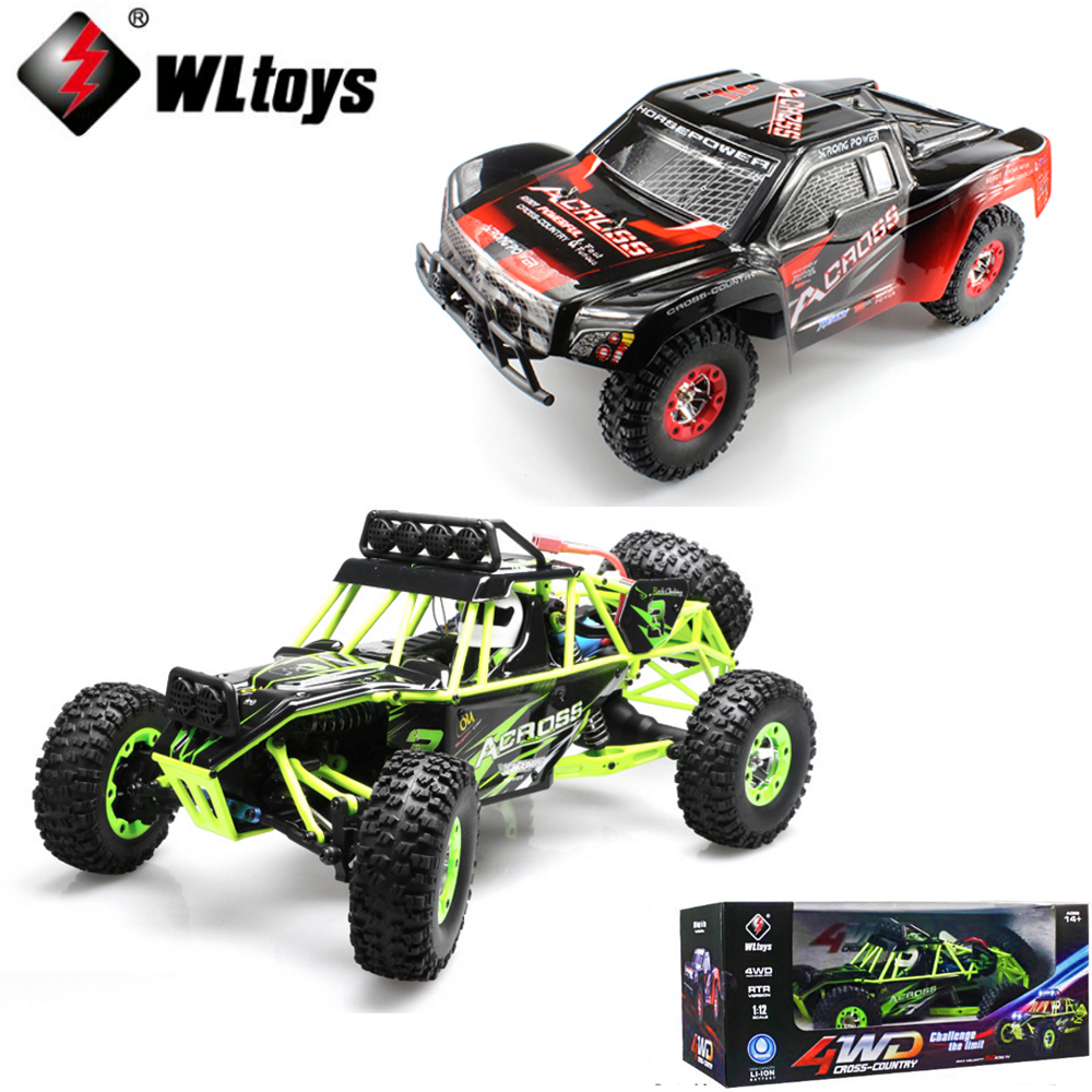 WLtoys 12428 12423 1/12 2.4GHz 4WD 50KM/H RC truck RC rock climber RC racing Car With LED Light RTR wltoys 12428 12423 1 12 rc car spare parts 12428 0091 12428 0133 front rear diff gear differential gear complete