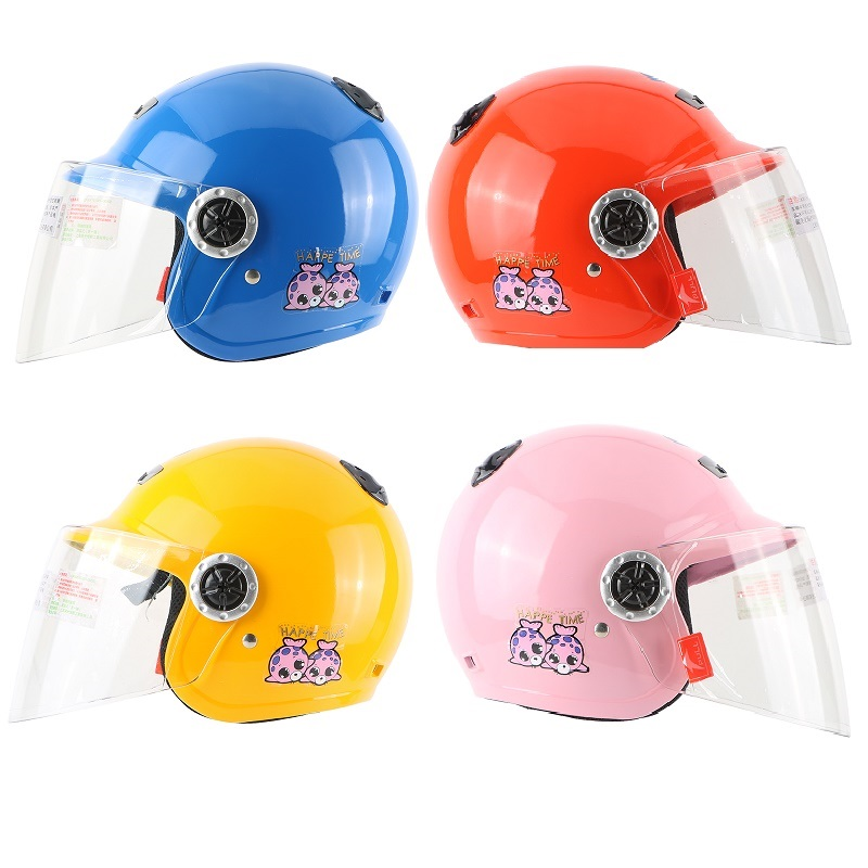 Kids helmet Open face Motorcycle dirt biker Jet Vintage Retro 3/4 safety kids skate - VECCHIO MOTORCYCLE SUPPLIES Store store