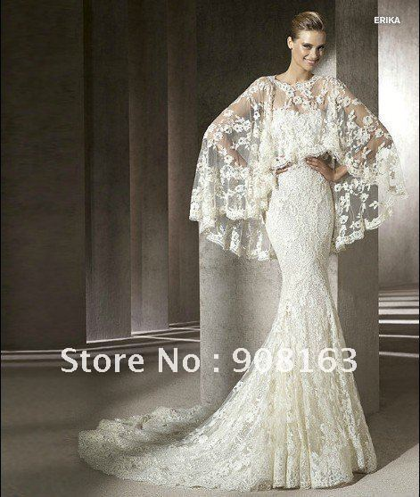 Vintage Wedding Gown Designers Hot Sale 2012 Style Designer Two Pieces Mermaid Lace