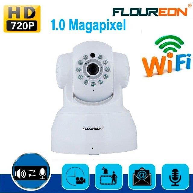 משופץ FLOUREON 720 p Wifi מגה פיקסל H.264 אלחוטי PT אבטחת CCTV-IP מצלמה לבן האיחוד האירופי