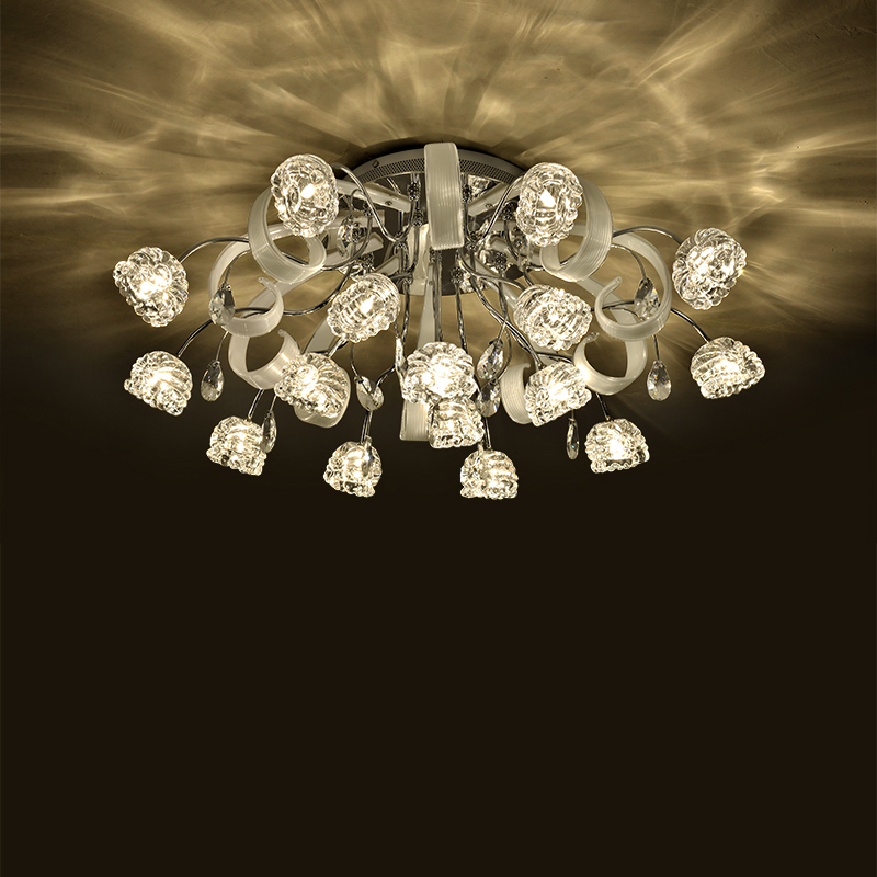 European ceiling lamp bedroom lamp modern minimalist living room remote control personality restaurant crystal lamp led lighting led remote control ceiling light bedroom lamp modern minimalist square living room lamp study restaurant aisle ceiling lamp