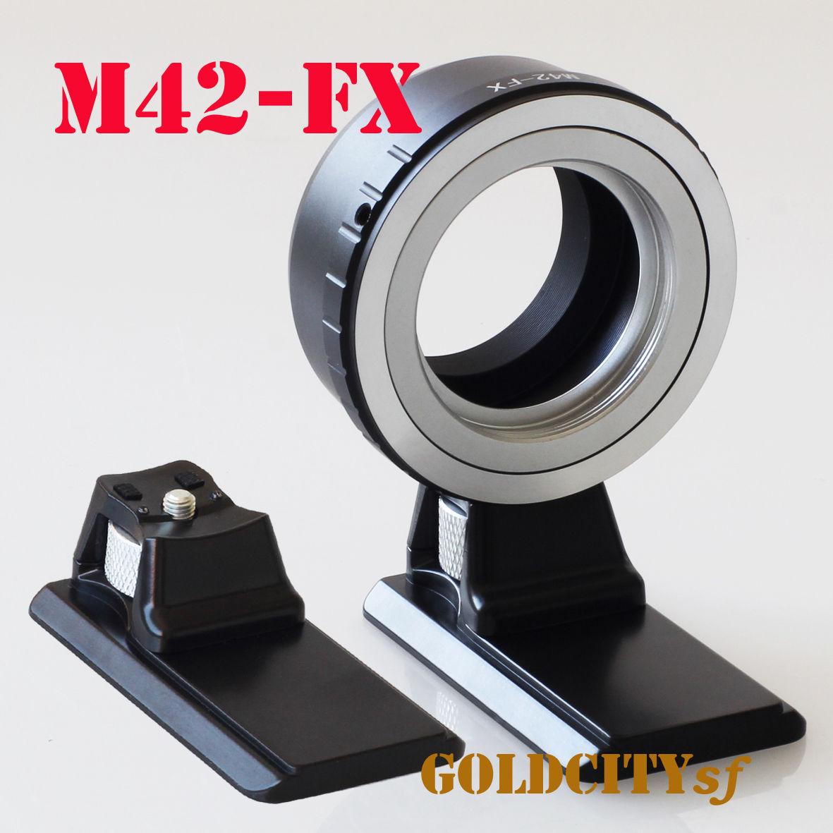 M42 42mm bague d'adaptation d'objectif avec Trépied Stand pour Fujifilm fuji FX X X-E2/X-E1/X-Pro1/X-M1/X-A2/X-A1/X-T1 xpro2 caméra