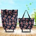 PLEEGA Brand Folding Portable Shopping Bags Buy Vegetables Bag High Capacity Shopping Food Organizer Trolley Bag on Wheels Bag