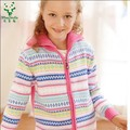 Brand 2017 Fall Winter Girls Fashion Turtle Neck Knitwear Children Multicolored Casual Knitted Sweater Kids Cardigan Jacket G159