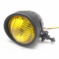 Metal Custom Motorcycle Headlight Autobike Head Light Lamp For Harley Chopper Bobber Sportster Curiser Road King