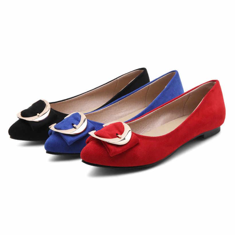 c4f3bd8c0 ... Большой Размеры повседневные женские туфли-лодочки 1 см Низкий  квадратный каблук из флока острый носок