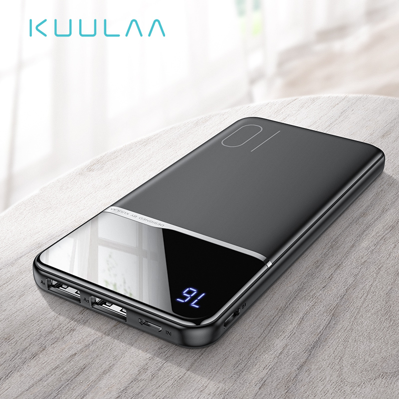 KUULAA Power Bank 10000mAh Portable Charging PowerBank 10000 MAh USB PoverBank External Battery Charger For Xiaomi Mi 9 8 IPhone(China)