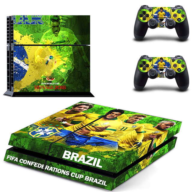 HOMEREALLY Stickers 2018 RU world cup PS4 Skin Cover For Sony PlayStation 4 Console and Controller Skin Ps4 Accessory Sticker    2