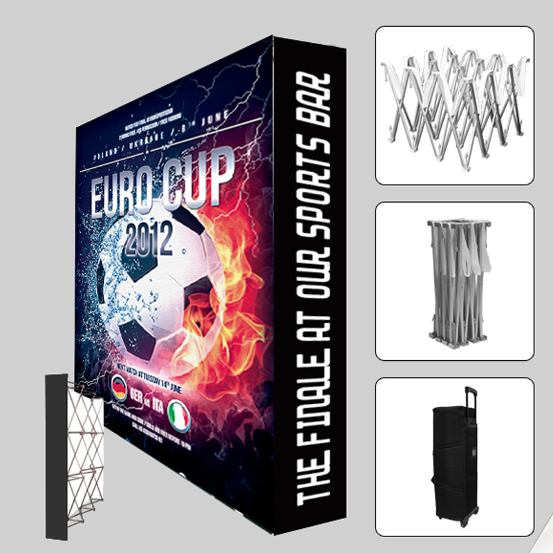 Us 375 0 10ft Protable Tension Fabric Pop Up Display Trade Show Booth Banner Backdrop Wall With Custom Graphic Printing In Flags Banners