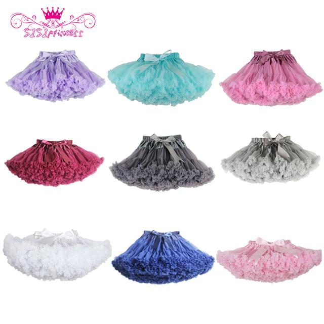Envío gratis mullido gasa Pettiskirts bebé 21 colores tutú faldas de las muchachas princesa Dance Party Tulle falda de la enagua venta al por mayor