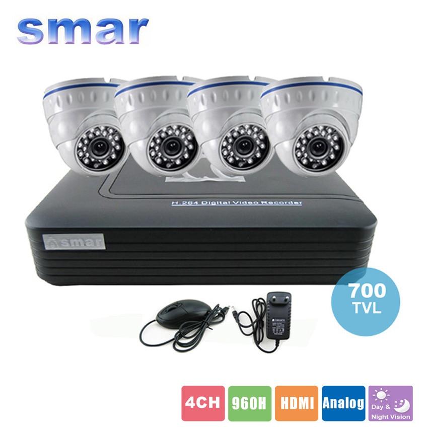 CCTV font b Camera b font DVR System Standalone Kit 4 Channel CCTV DVR HVR NVR