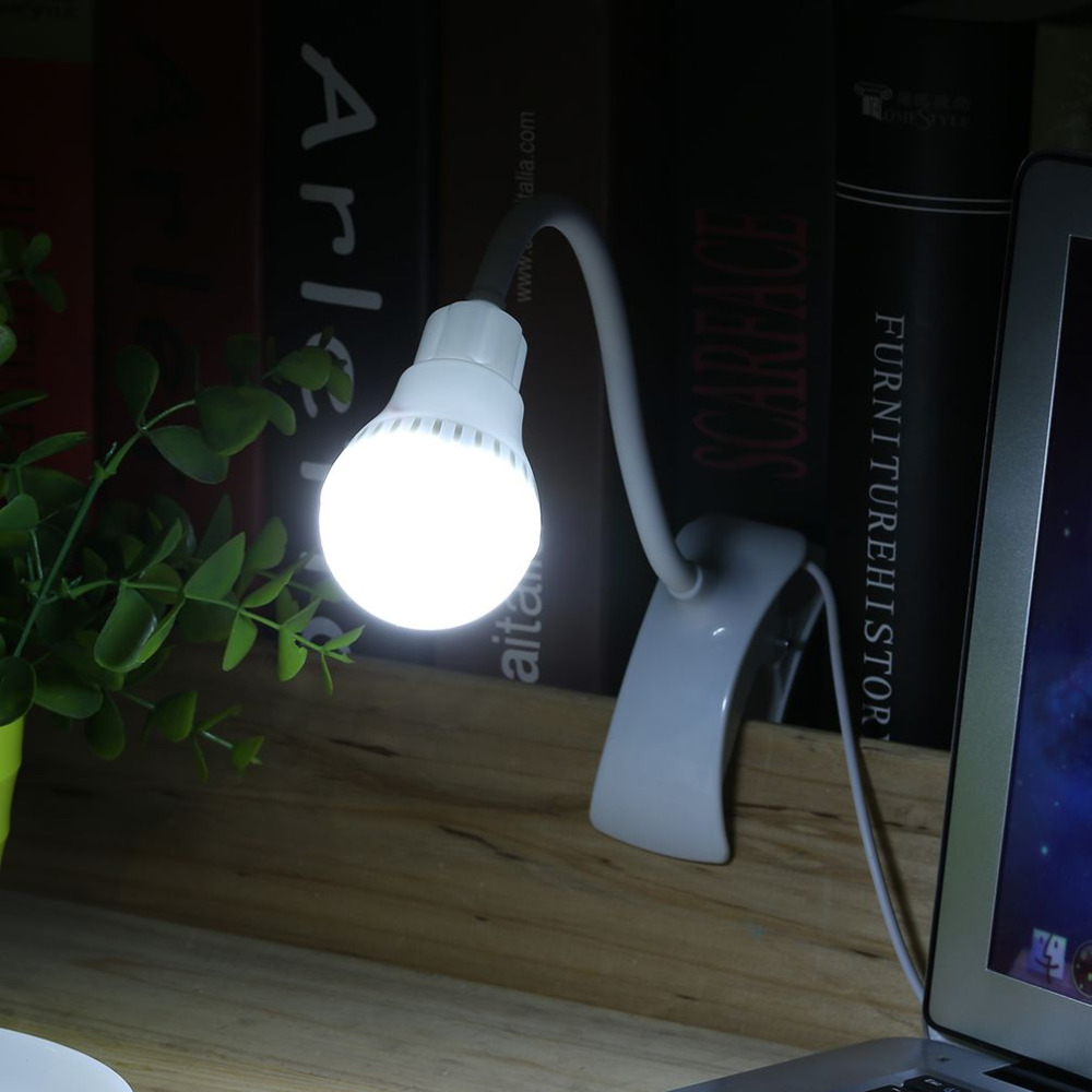 Super Bright LED Desk Clip Lamp USB Rechargeable Table Reading Lamp Student 360 degree bendable Light 2017 Brand New