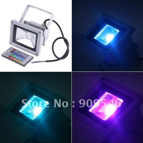 shipping free DHL16 colour change RGB led floodlight 10W / 20w / 30w / 50w rgb led flood light Waterproof IP 65 led streep lamp