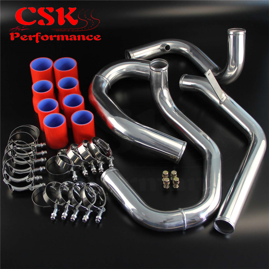 Bolt On Front Mount Intercooler Piping pipe Kit Fits For VW Jetta Golf 1.8T 98-05 Red / Blue / Black