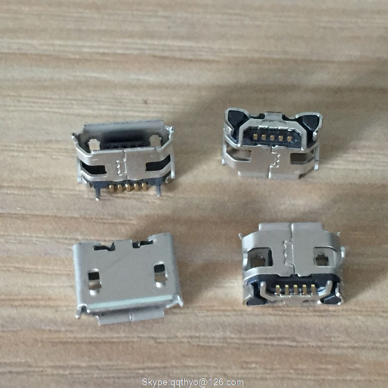 New high quality 10pcs <font><b>Micro</b></font> <font><b>USB</b></font> <font><b>Connector</b></font> Jack Female Type 5Pin SMT Tail Charging socket <font><b>PCB</b></font> Board image