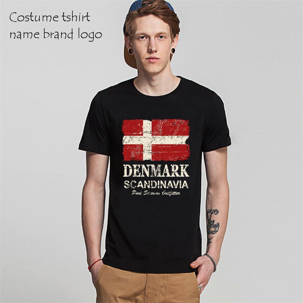 Hot Selling Men Denmark Flag Short 3d T-Shirt O Neck Online Tee Adult Fashion Top Cotton Tee shirts male tshirts game feyenoord