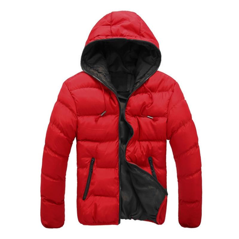 2018 New Luxury Men's Winter Jacket Fashion Red Parka Men Hooded Down Jackets Thick Warm Coats Winter Male Coat 3XL 50