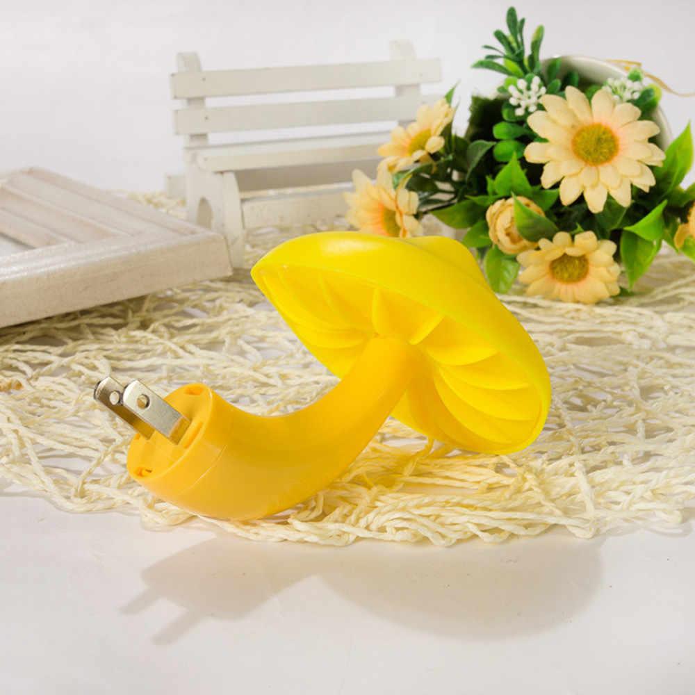 2 шт. ночник домашний прикроватный светодиодный желтый гриб датчик света патрон для лампочки тумбочка освещение Управление светодиодный лампы