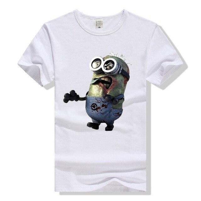 77c57cb22f4b Minions The Walking Dead T-shirt für Männer Frauen Cartoon T Kleidung TWD T-