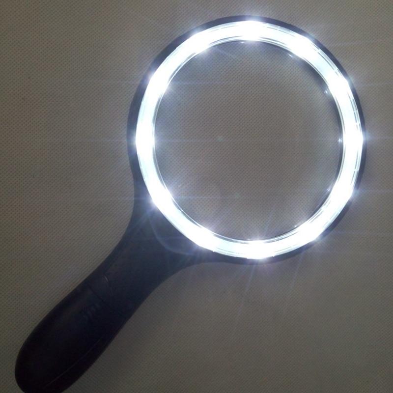 Lente grande de 138 mm de mano Iluminado 1.8x 5x Lupa Lupa Lectura - Instrumentos de medición - foto 2