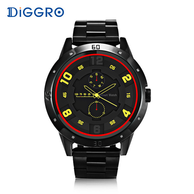 Diggro DI02 SmartWatch MTK2502C Heart Rate Monitor Two Side Straps Bluetooth Phone Fitness Tracker Smart Watch for Android IOS