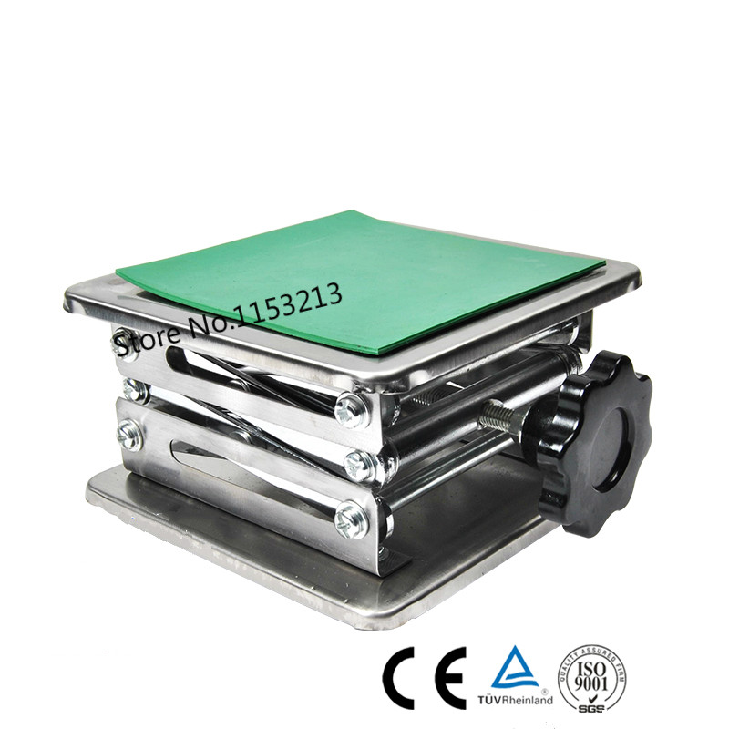 Lab Jack Laboratory Support Jacks 100x100x150mm Stainess Steel Painting Lifting Table Raising Platform 4''inch Export to Europe
