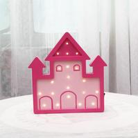 Ins Nordic Wind Room Decoration Lamp Castle Modeling Nightlight Home Decoration Wall Hanging