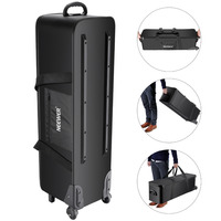 Neewer Photo Studio Equipment Rolling Bag Trolley Carrying Case for Light Stand Tripod Strobe Light