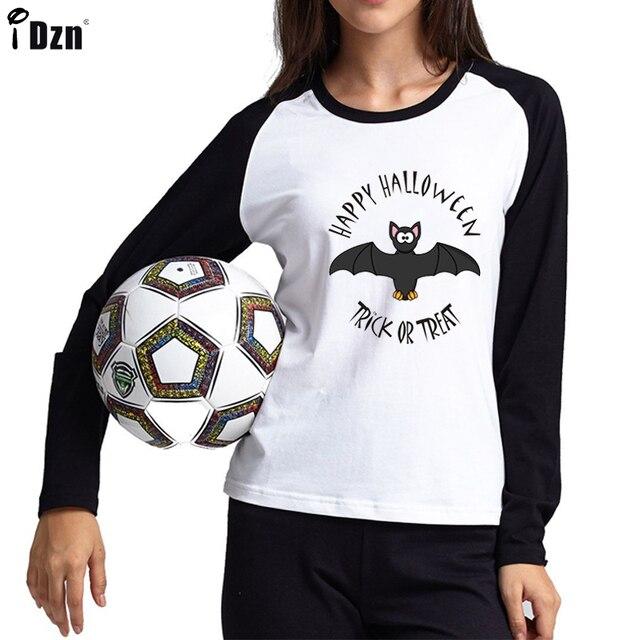 909bf265efe Hot Sale Long Sleeve T Shirt Women Bat Halloween Brand Graphic Tshirts  Femme Animal Print Raglan Tops Lady Plus Size XXL