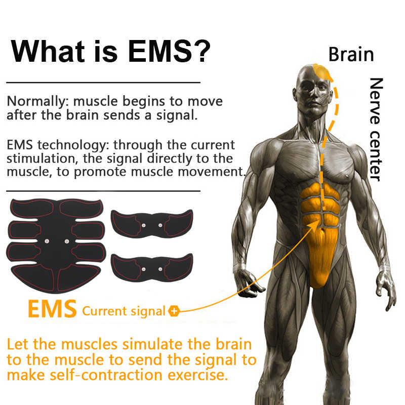 2019 ems estimulador muscular sem fio abdominal tonificação cinto músculo toner corpo muscular fitness trainer para abdômen braço perna unisex