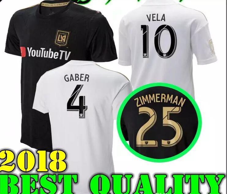 purchase cheap 83d06 dc5d9 2018 LAFC Carlos Vela Soccer Jerseys 1819 Home GABER ROSSI ...