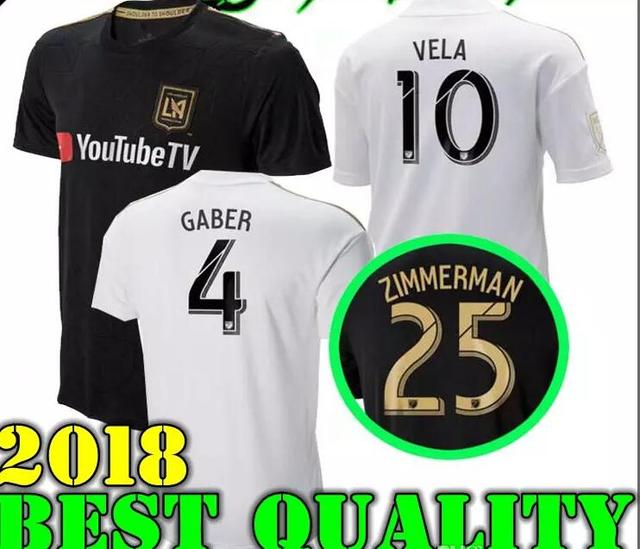 f88ac5914 2018 LAFC Carlos Vela Soccer Jerseys 1819 Home GABER ROSSI CIMAN ZIMMERMAN  home away TOP Quality Football Shirt Los Angeles fc