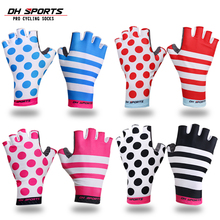 DH SPORTS New Men Women Anti Slip Gel Pad Bicycle Short Half Finger Cycling Gloves Breathable Outdoor Sports MTB Bikes